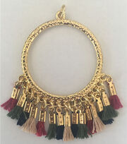hildie & jo™ Large Gold Pendant with Tassel, , hi-res