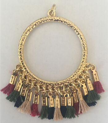 hildie & jo™ Large Gold Pendant with Tassel