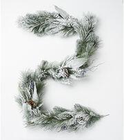 Blooming Holiday Christmas 66'' Pines & Pinecone Artic Circle Garland, , hi-res