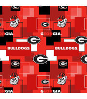 University of Georgia Bulldogs Cotton Fabric 43''-Modern Block, , hi-res