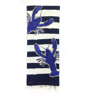 Seaport 16''x28'' French Terry Towel-Lobster