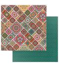 Photoplay Paper Paprika 12\u0027\u0027x12\u0027\u0027 Double-Sided Cardstock-Mandalas