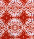 Anti-Pill Fleece Fabric 59\u0022-Orange Circular Tie Dye