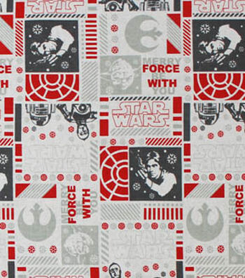 "Star Wars™ Cotton Fabric 44""-Christmas"