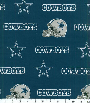 "Dallas Cowboys Cotton Fabric 58""-Blue"