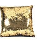 Sequin Pillow 16\u0027\u0027-Gold