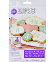 Wilton® Stick & Stay Stencils-Alphabet, , hi-res