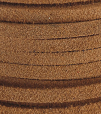 """Silver Creek Leather Co. Suede Lace 1/8""""x25 Yards-Toast"""