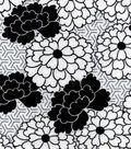 Snuggle Flannel Fabric 42\u0022-Geometric Floral