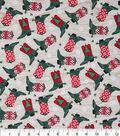 Christmas Cotton Fabric 43\u0022-Holiday Cowboy Boots