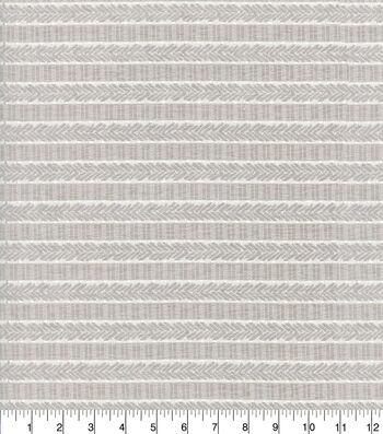 "Waverly Designer Upholstery Fabric 54""-Admiral Stripe Nikel"