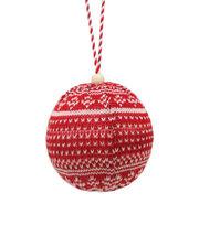 Maker's Holiday Christmas Handmade Holiday Ball Ornament-Fairisle, , hi-res