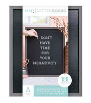 DCWV Home 16''x20'' Black Letter Board with 1'' White Letters, , hi-res
