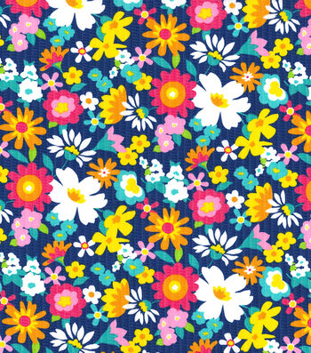 Tutti Fruitti Wings & Things Embellished Fabric 44''-Garden Bloom