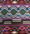 Silky Prints Rayon Fabric-Navajo Texture Multi