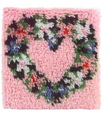 """Wonderart Latch Hook Kit 12""""X12""""-Heart Wreath"""