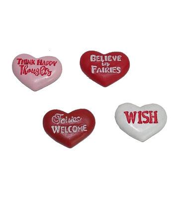 Valentine's Day Littles 4 pk Resin Conversation Hearts