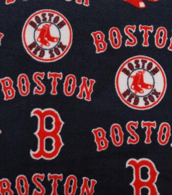 "Boston Red Sox Fleece Fabric 58""-Tossed"