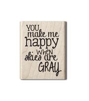 Hampton Art™ Cam & Chloe Mounted Stamp-You Make My Heart Happy, , hi-res
