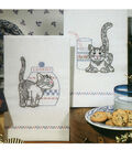 Tobin Stamped Kitchen Towels Kittens