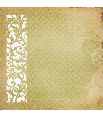"Turtle Dove Die-Cut Paper 12""X12""-Delicate"