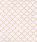 Buttercream™ Audrey Collection Cotton Fabric-Gray Quatrefoil Metallic
