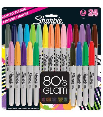 Sharpie Fine Point Permanent Markers 24/Pkg-Electric Pop