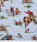 Novelty Cotton Fabric 44\u0022-Coqboys & Horses