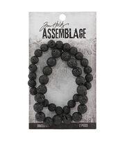 Tim Holtz® Assemblage 2 Pack 8'' Bracelets-Lava Beads, , hi-res
