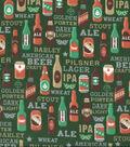 Snuggle Flannel Fabric 42\u0027\u0027-Beer Types