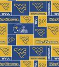 West Virginia University Mountaineers Fleece Fabric 60\u0022-Block