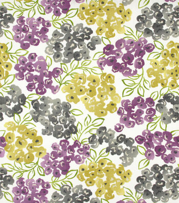 "Robert Allen @ Home Print Fabric 54""-Best Floral Purple"