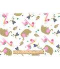 Snuggle Flannel Fabric 42\u0022-Baby Zoo Friends