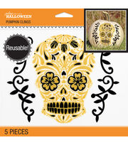 Jolee's Boutique® 5 pk Pumpkin Clings-Day Of The Dead Skull, , hi-res