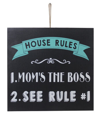 Escape To Paradise Wall Banner-Mom's The Boss