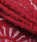 Knit Lace Fabric 57\u0022-Dark Red