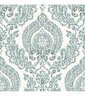 WallPops® NuWallpaper™ Navy Kensington Damask  Peel  & Stick Wallpaper