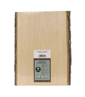 "Basswood Country Rectangle Plank-9"" To 11""x13"""