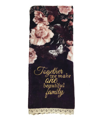 Fall Into Color 16''x28'' Velour & Terry Hand Towel-One Beautiful Family