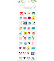Shimelle Little By Little Puffy Stickers-Mini Icons, , hi-res