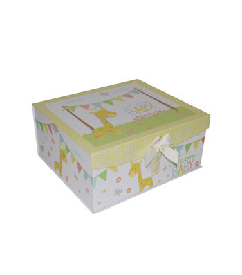 Organizing Essentials™ Large Flip Top Box-Welcome Baby