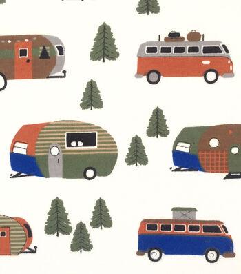 """Doodles® Cotton Fabric 57""""-Little Camper"""