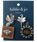 hildie & jo™ 4 Pack Bugs Silver Charms