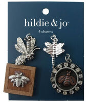 hildie & jo™ 4 Pack Bugs Silver Charms, , hi-res