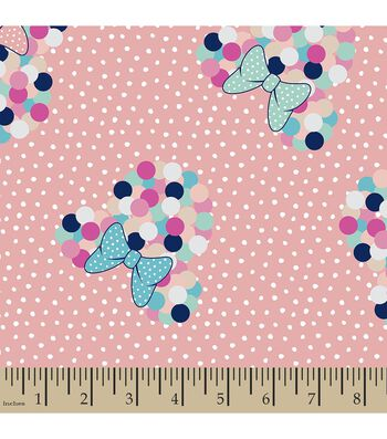 Disney® Minnie Mouse Print Fabric-Polka Dot Minnie Head