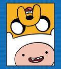 No Sew Fleece Throw 48\u0022-Adventure Time