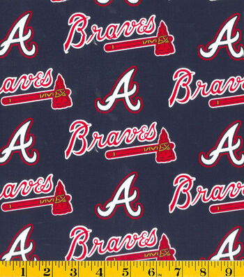 "Atlanta Braves Cotton Fabric 58""-Logo"