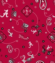 "University of Alabama Crimson Tide Cotton Fabric 43""-Bandana, , hi-res"