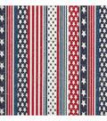 Patriotic Cotton Fabric 44\u0022-Faded Glory Flag