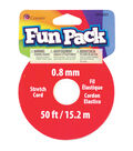 Fun Pack Stretch Cord Spool .8mm 50 Feet/Pkg-Clear